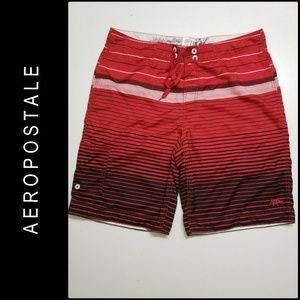 Aeropostale Men Swim Wear Board Short Size 38 Red